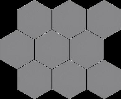 Cambia gris lappato heksagon - 11