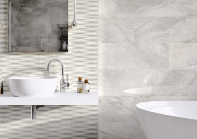 Masterstone White geo - Decor, Wall tiles, Floor tiles