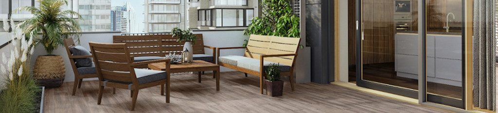 Advantages of using porcelain tiles as a flooring material for your terrace.