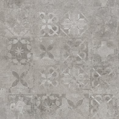 Softcement silver patchwork poler - 24