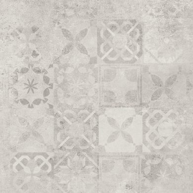 Softcement white patchwork poler - 24